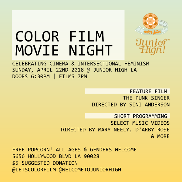 Color Film Movie Night April 22, 2018