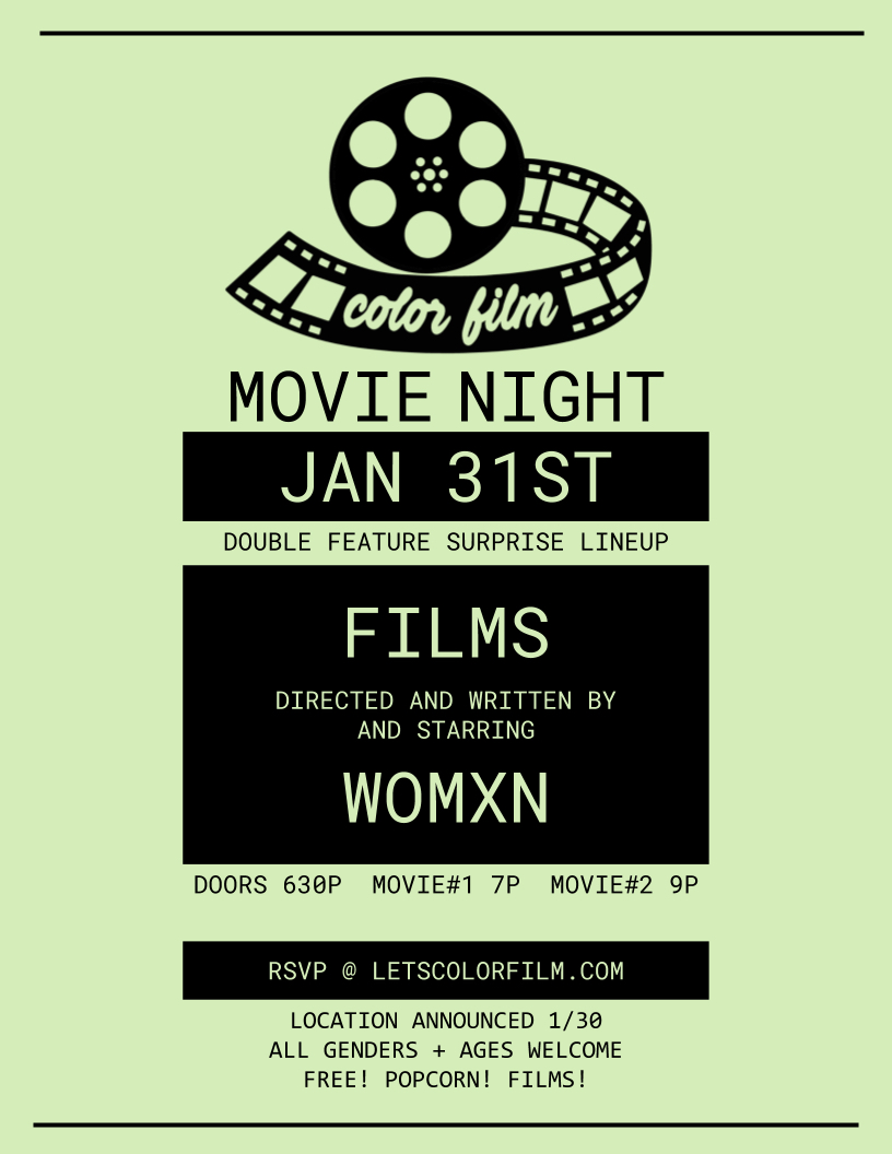 Color Film Movie Night January 31